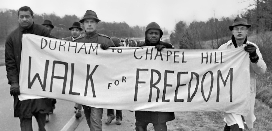 On Jan. 12, 1964, the Chapel Hill Freedom Committee organized a 13-mile march from Durham to Chapel Hill.